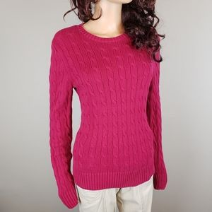 ✿❀ Tommy Hilfiger Pink Cable Knit Sweater ❀✿